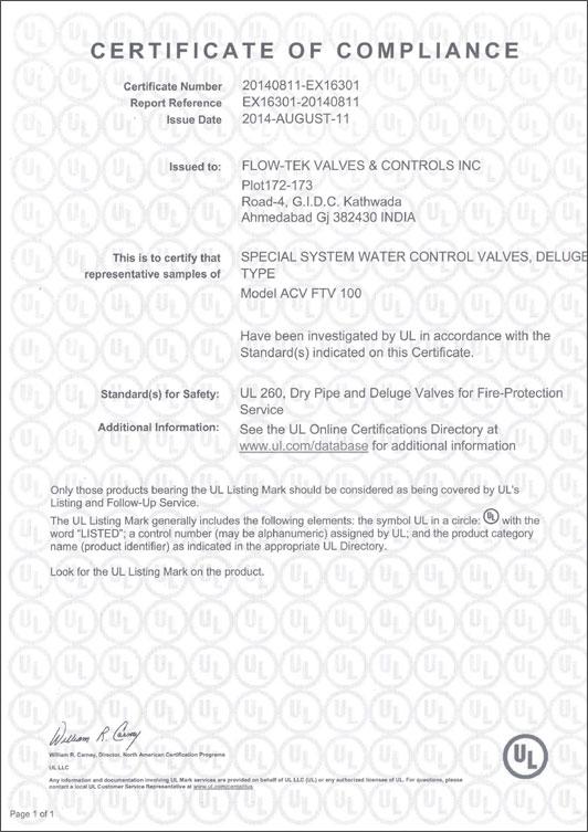 UL Listed Valves, UL Approved Deluge Valve Manufacturer
